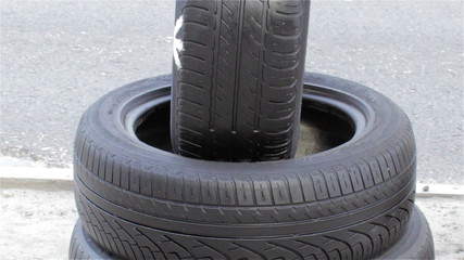 car tires with road