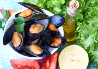 Steamed Mussels, Moules Marinieres