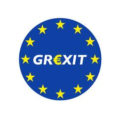 Grexit rund blau