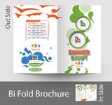 Fototapety Summer Camp Bi-Fold Mock up & Brochure Design