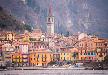 Small town on Lake Como, Italy