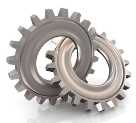 Two connected gear