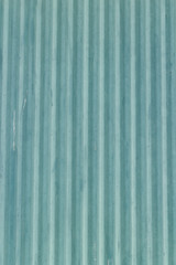 Blue corrugated metal sheet background