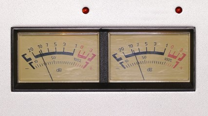 stereo decibel meters - part of sound equipment - 4k