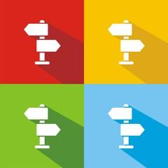 Iconos direcciones colores sombra