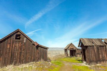 Verlassene Indianersiedlung in The Dalles Oregon