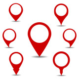 Marker Pointer for the map icon interface pointer red set