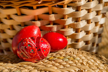 three easter red
