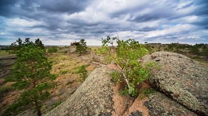 Panoramic view of rocky terrain
