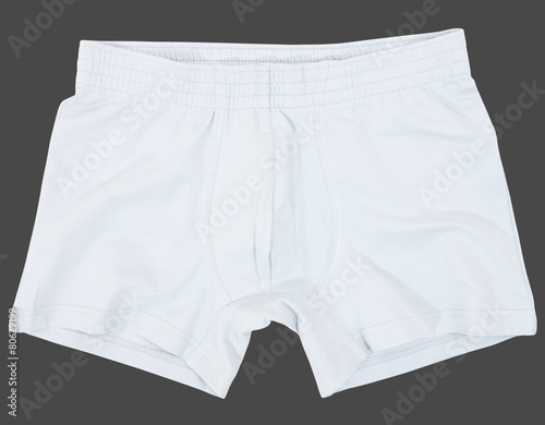 Leinwandbild Motiv Male underwear isolated on gray background.