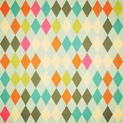 Seamless colorful Abstract background made of rhombuses