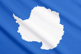 Flag of South Pole poster