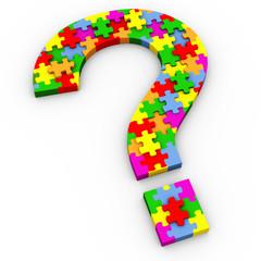 3d puzzle question mark