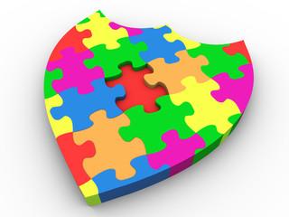 3d puzzle shield