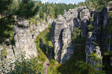 sandstone formations in the Czech Paradise