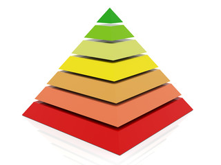 3d colorful pyramid