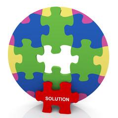 3d circle puzzle solution