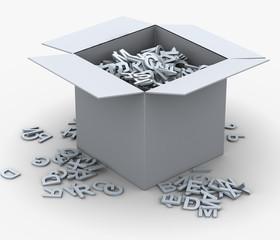 3d box of alphabets
