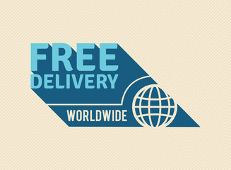 Free Delivery Worldwide retro. EPS8.