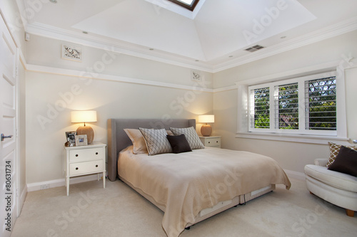 Leinwanddruck Bild Interior Design: Modern Bedroom