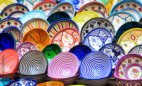 Traditional ceramic pottery in Morocco - 80632314