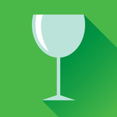 Wine Glass Flat Icon