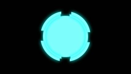 Rotating gears seamless loop background
