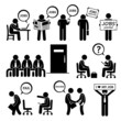 Man Looking for Job Employment and Interview Cliparts - 80632994