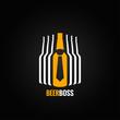 beer bottle boss concept design background - 80633172