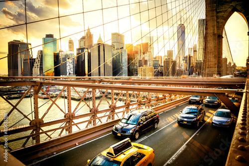 Zdjęcia na płótnie, fototapety na wymiar, obrazy na ścianę : New York City, Brooklyn Bridge skyline