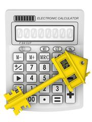 Ключ от недвижимости лежит на электронном калькуляторе