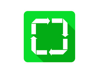 Recycle reuse reduce recover Flat Shadow Icon
