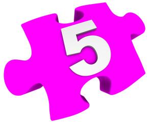 Цифра 5. Пазл