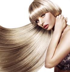 Beautiful woman with trendy hairstyle © konradbak
