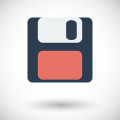 Magnetic floppy disc icon.
