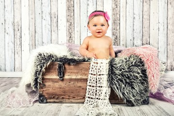 Baby beim Fotoshooting