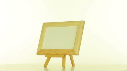 Wooden frame on a white background