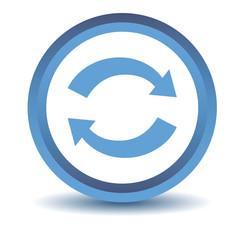 Blue synchronization icon