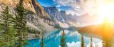 Moraine lake Rocky Mountains panorama - 80636704