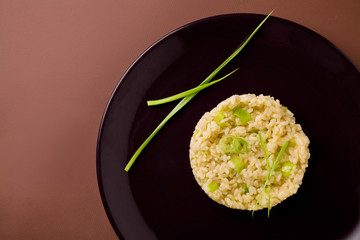 Risotto With Minced Leek