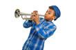 Leinwandbild Motiv Boy trumpeter.