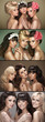Multiple picture of three beautiful women