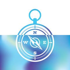 Navigation compass - marine Equipment - maritime symbols