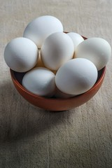 Eggs in the brown Cup