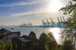 Leinwanddruck Bild - Hamburg Elbe Hafen Panorama