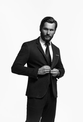 Handsome man in suit and tie