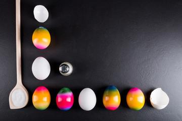 Eier Ostereier und Gewürze
