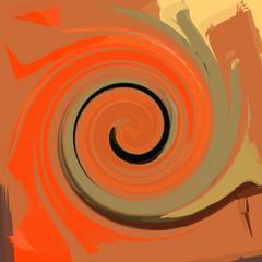 Spiral color lines. Illustration.