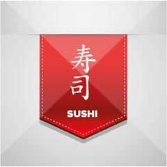 Sushi sign red ribbon