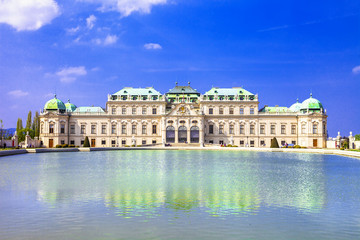 beautiful Belvedere palace, Vienna